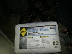 I use this concrete mix from Lowe's