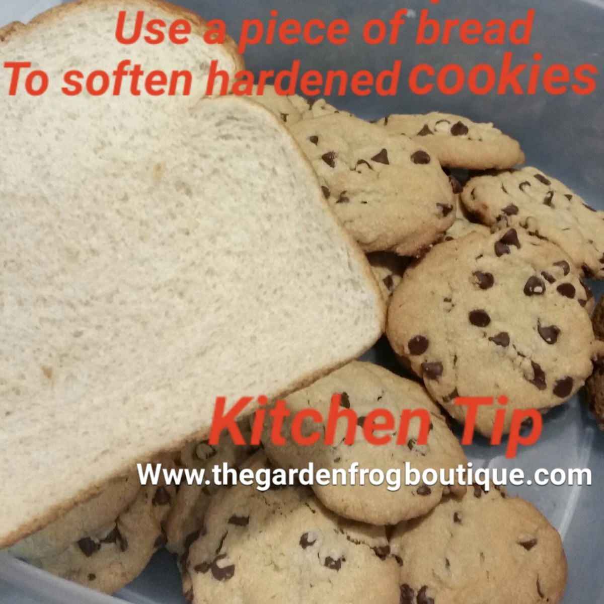 Kitchen Tip to Soften Hard Cookies- Use a Piece of Soft Bread