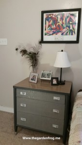 Transform an ugly desk to a pretty nightstand dresser
