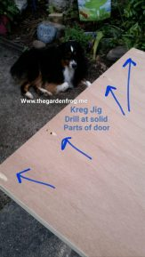 I joined the uncut ends of doors together because there is a solid piece of wood. I would use 4 small 1″ brackets to join the top and I used 4 Kreg Jig screws to join my top