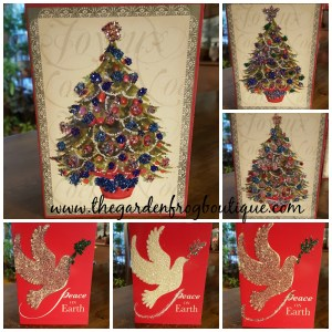 Create Beautiful Christmas & Holiday Cards from Boxed Cards, dollar store boxed cards