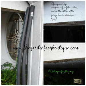 Garage Tip- a Temporary Cheap Fix for the Bottom Garage Door Seal