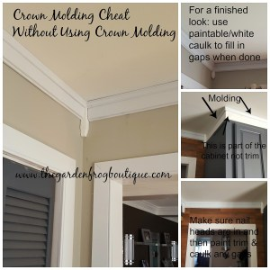 Crown Molding Cheat Without Using Crown Molding