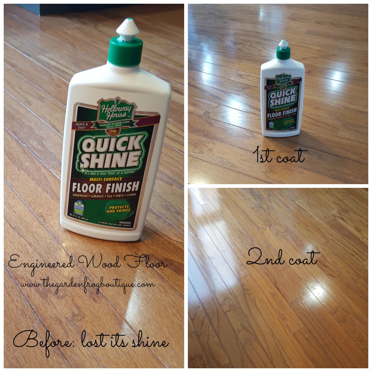 How I Shined my Wood Floors for $6