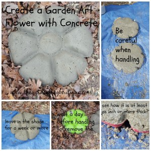 Create a Garden Art Flower with Concrete or Hypertufa or stepping stone