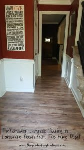4 Reasons to Use Trafficmaster Laminate Flooring from The Home Depot in Lakeshore Pecan