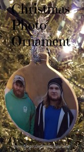 Christmas photo ornament from clay Christmas craft ornaments