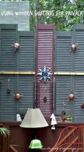 Using wood shutters for privacy