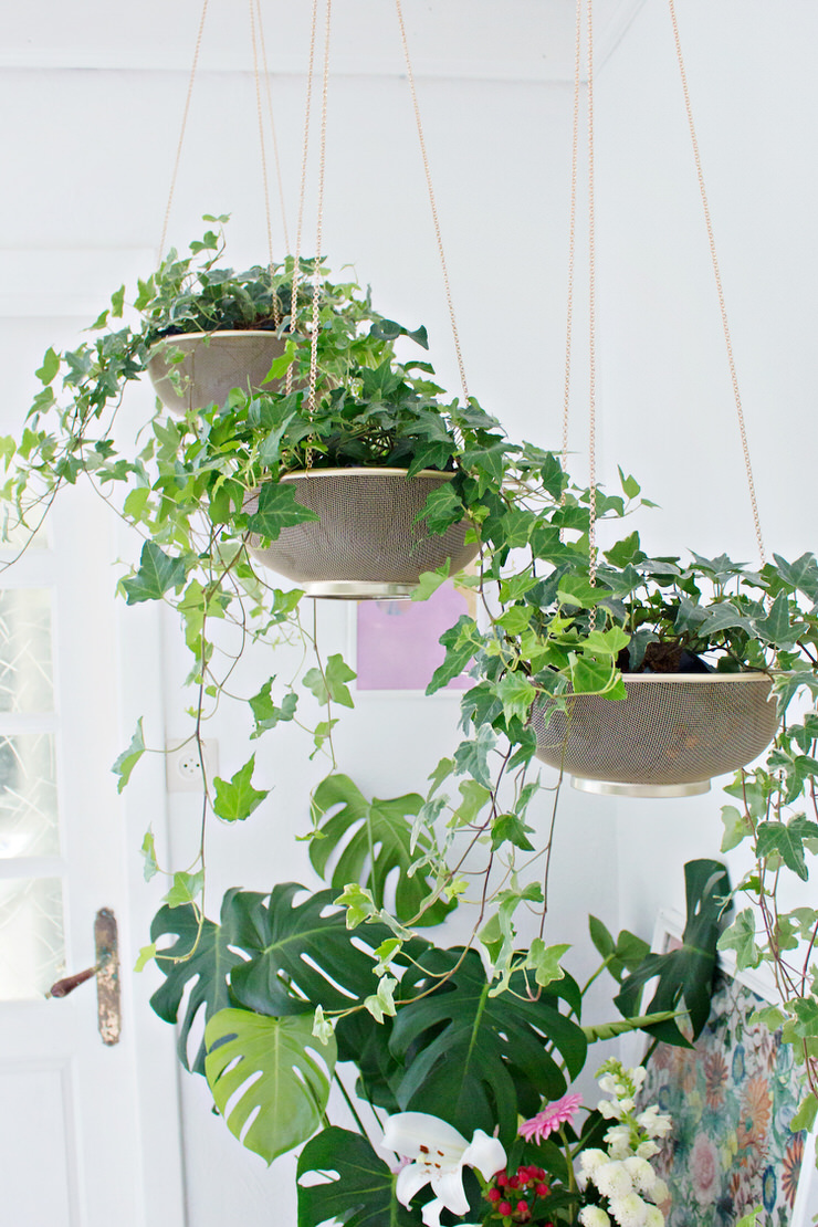DIY Indoor Hanging Planters that Add Style to your Space ... on Hanging Plant Pots Indoor  id=69405