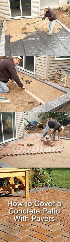 DIY Concrete Patio Cover-Ups | The Garden Glove on Diy Concrete Patio Ideas id=81591