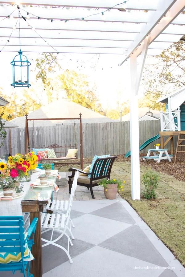 DIY Concrete Patio Cover Up Ideas | The Garden Glove on Diy Concrete Patio Ideas id=43441