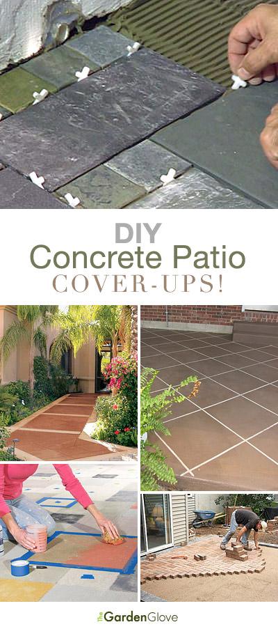 DIY Concrete Patio Cover Up Ideas | The Garden Glove on Diy Concrete Patio Ideas id=71280