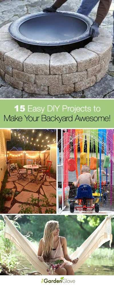 15 Easy DIY Outdoor Projects to Make Your Backyard Awesome ... on Diy Back Garden Ideas  id=73190