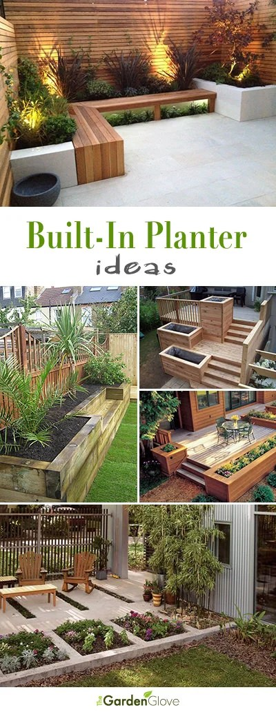 built in outdoor planter ideas diy