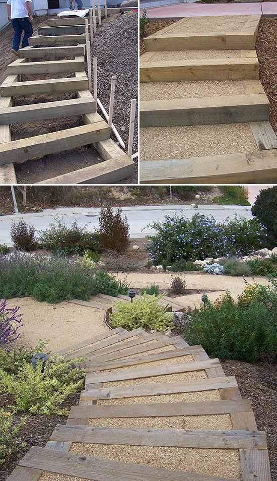 Step by Step! : DIY Garden Steps & Outdoor Stairs • The ... on Backyard Patio Steps  id=40783