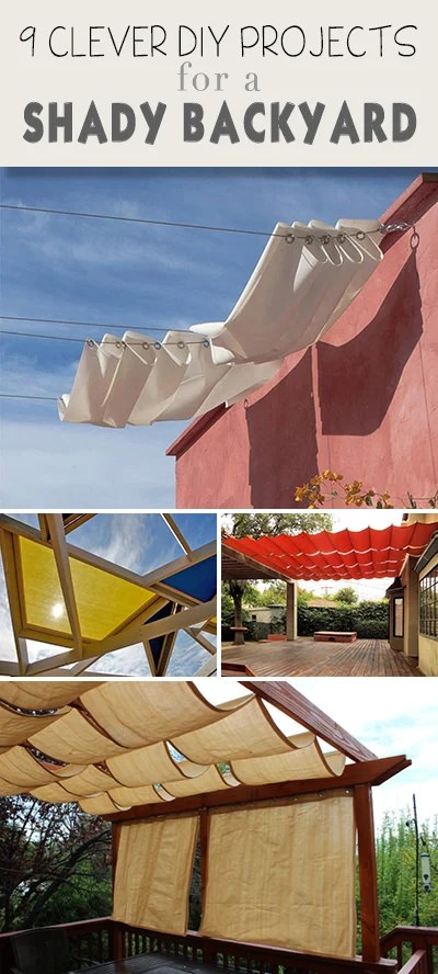 9 Clever DIY Ways to Create Backyard Shade • The Garden Glove on Shady Yard Ideas  id=25217