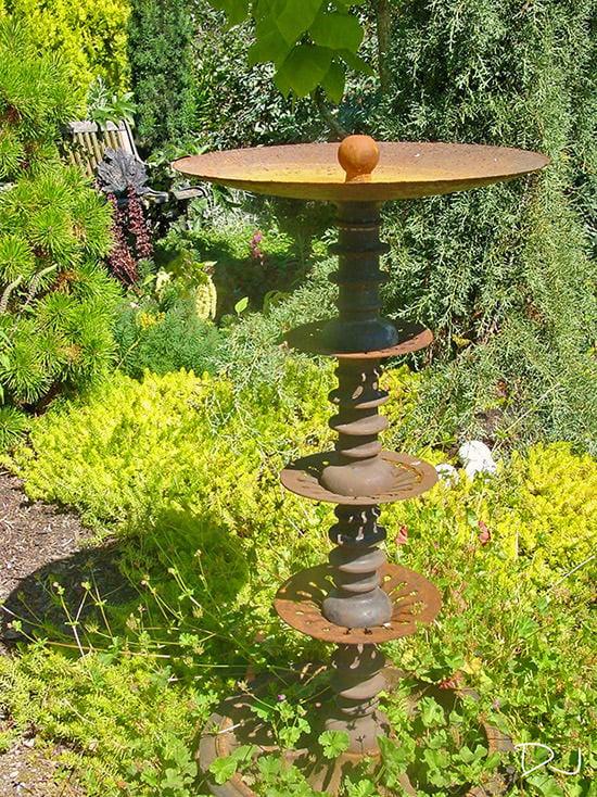 Rusty Metal Garden Decor & Metal Yard Art • The Garden Glove on Backyard Metal Art id=89704