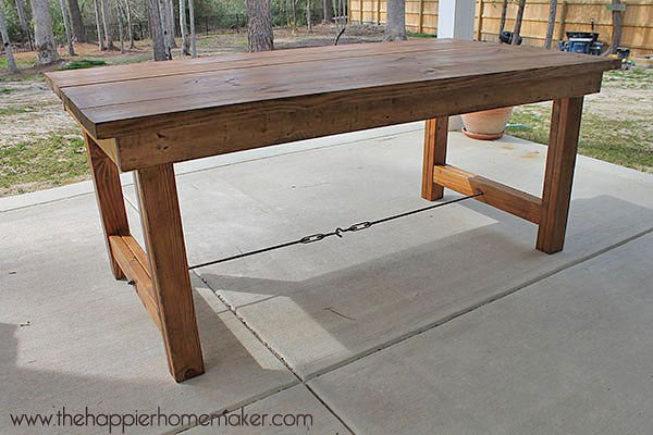 diy outdoor patio table DIY Outdoor Dining Tables | The Garden Glove