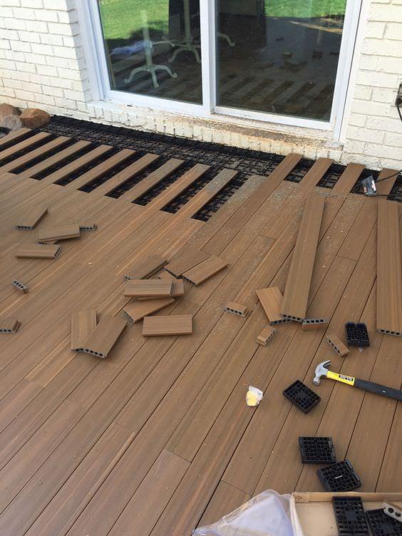 9 DIY Cool & Creative Patio Flooring Ideas • The Garden Glove on Floating Patio Ideas id=70004