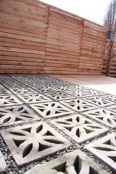 9 DIY Cool & Creative Patio Flooring Ideas • The Garden Glove on Diy Concrete Patio Ideas id=92299