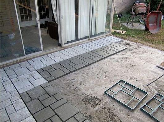 9 DIY Cool & Creative Patio Flooring Ideas • The Garden Glove on Diy Backyard Patio Cheap  id=97541