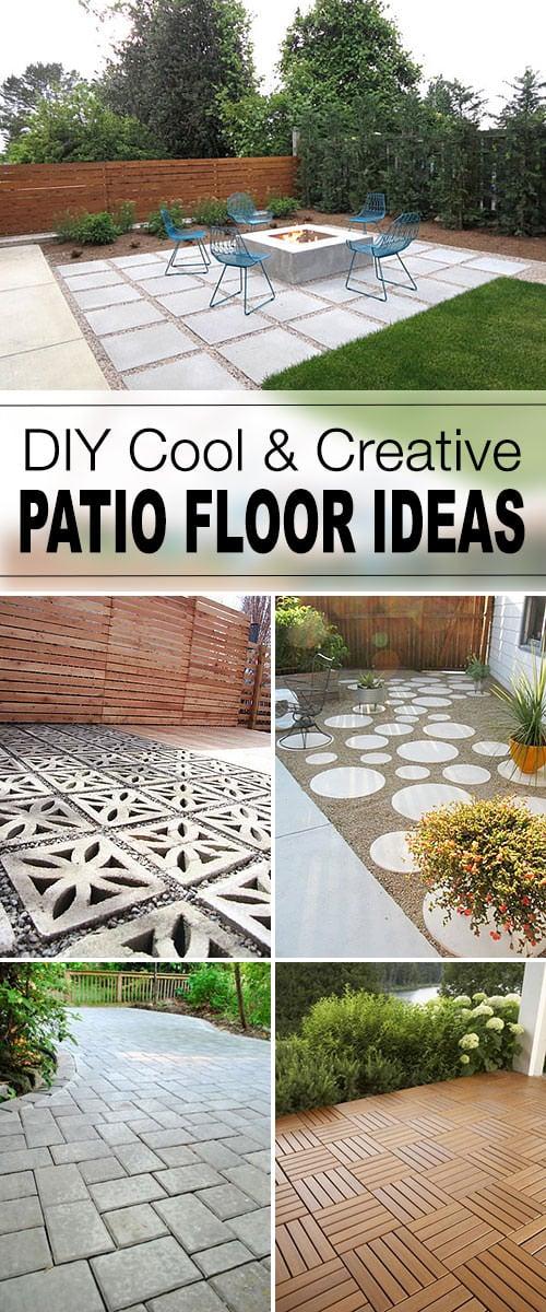 9 DIY Cool & Creative Patio Flooring Ideas • The Garden Glove on Cheap Backyard Patio Ideas id=86752