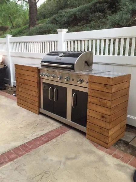 DIY Outdoor Kitchens and Grilling Stations | The Garden Glove on Patio Kitchen Diy  id=74858