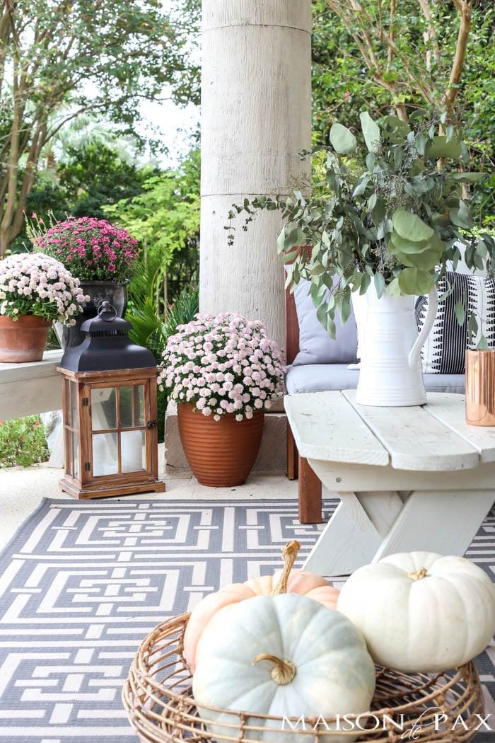 Fall Porch Decor & Outdoor Decorating Ideas • The Garden Glove on Garden Decor Ideas  id=90581