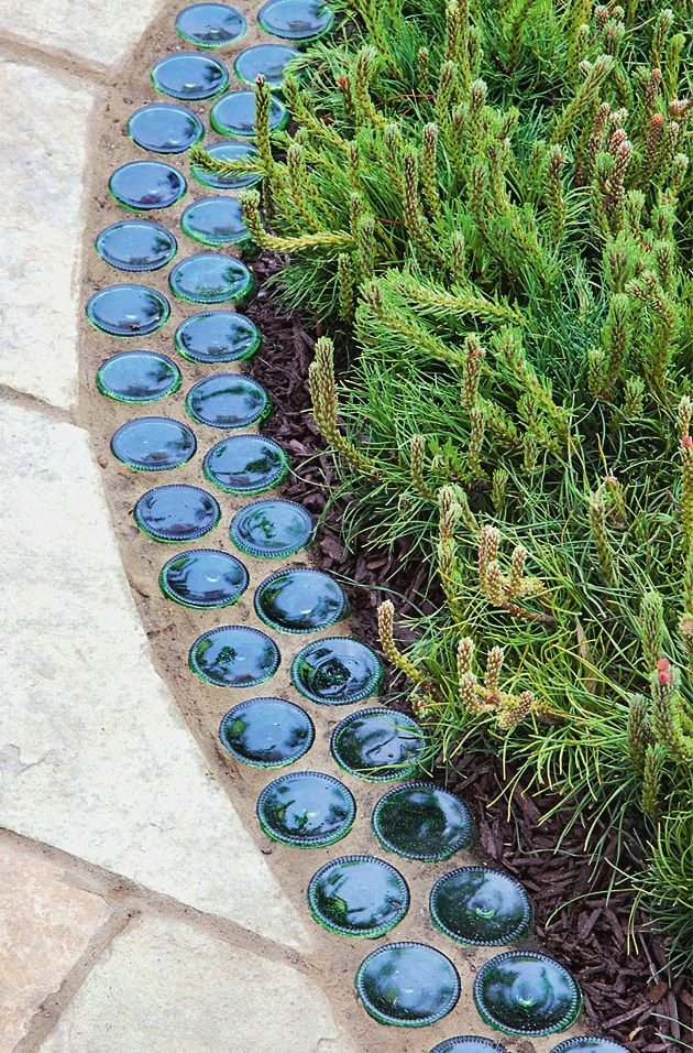 Garden Edging: Landscape Edging Ideas with Recycled ... on Backyard Border Ideas  id=95495