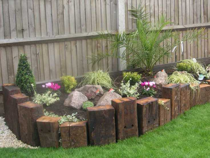 Garden Edging: Landscape Edging Ideas with Recycled ... on Wooded Backyard Ideas id=13662