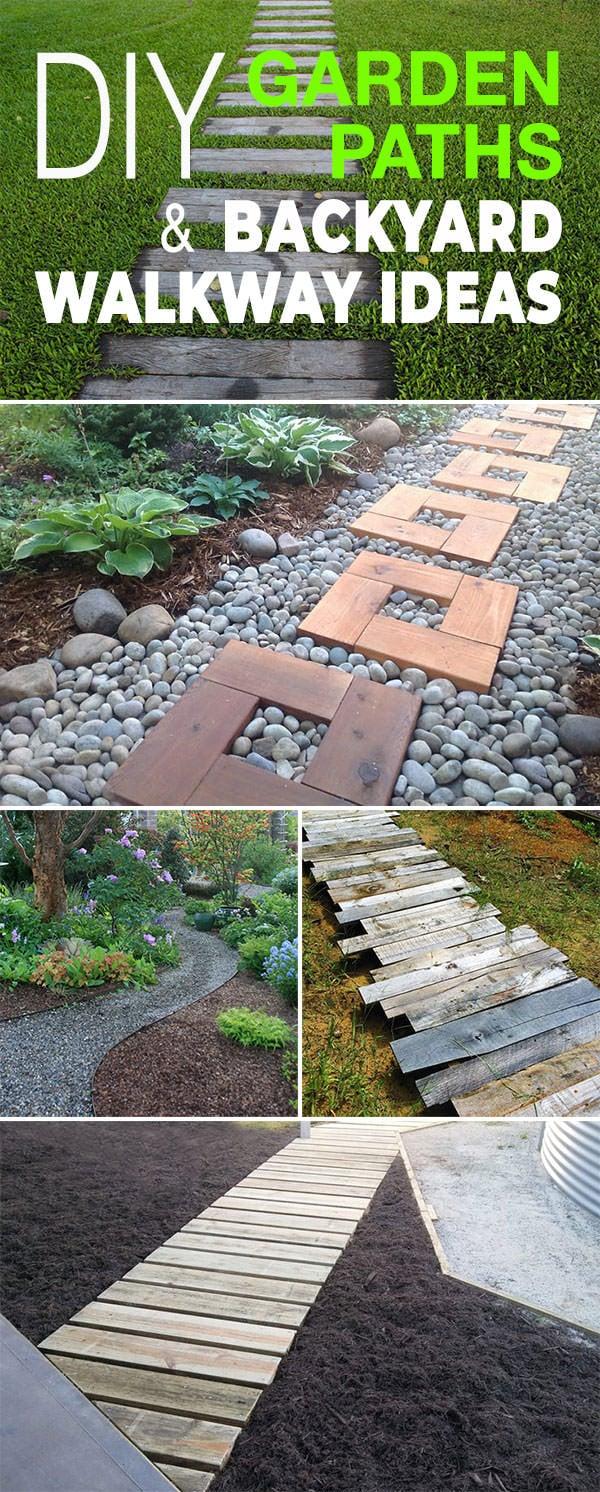 DIY Garden Paths And Backyard Walkway Ideas | The Garden Glove on Backyard Walkway Ideas id=78223
