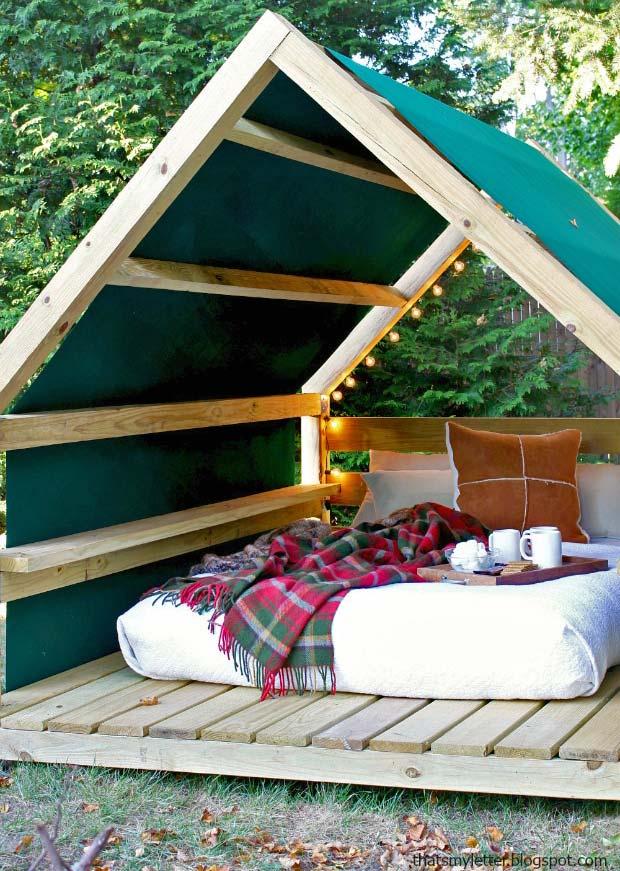 diy outdoor cabanas add a little