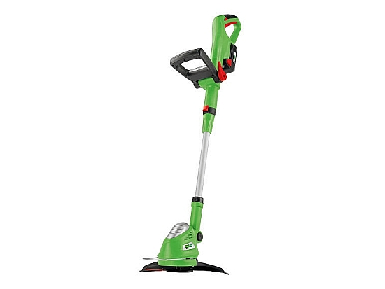 Florabest 18v li ion cordless grass trimmer at lidl the for Aldi gardening tools 2015