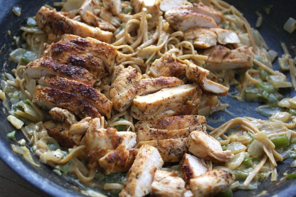 One Pot Secret Ingredient Cajun Chicken Pasta