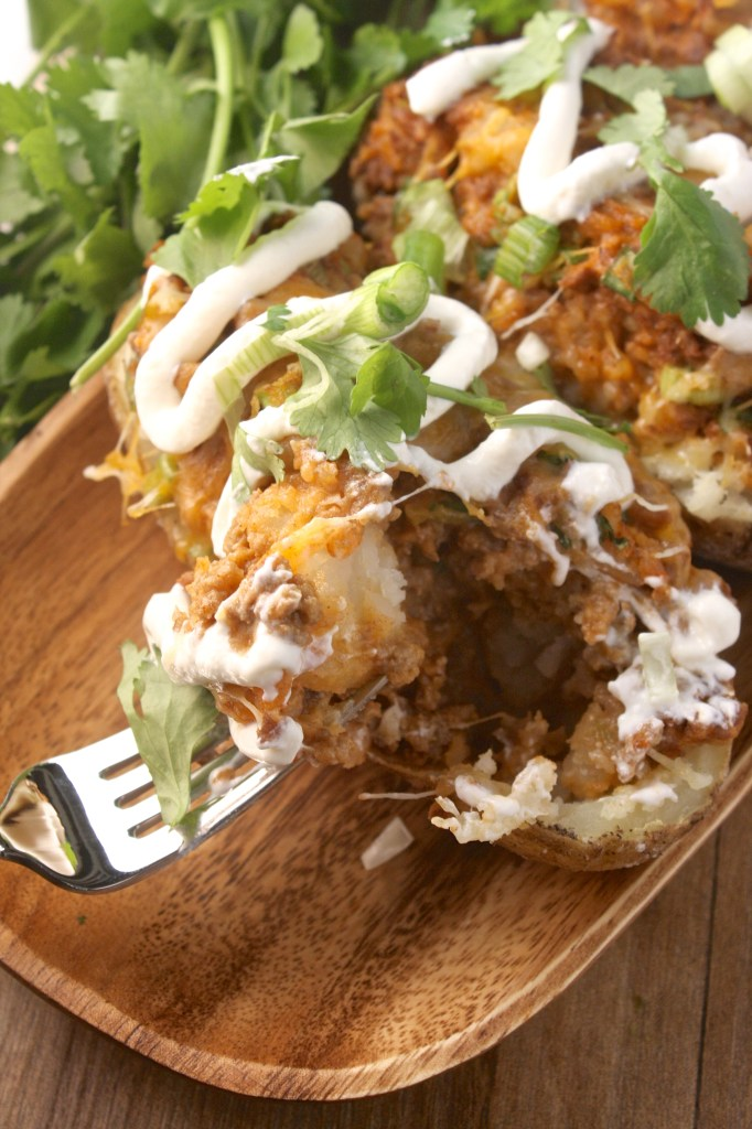 Mexican Twice Baked Potatoes -- TheGarlicDiaries.com