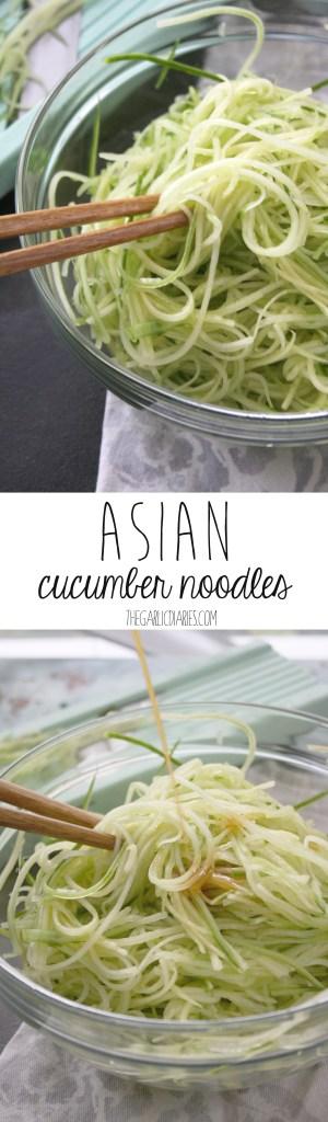 Asian Cucumber Noodles -- TheGarlicDiaries.com