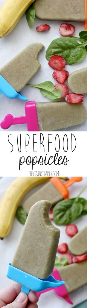 Superfood Popsicles -- TheGarlicDiaries.com