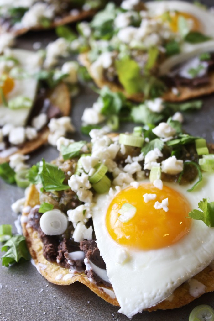 Huevos Rancheros with Grilled Salsa Verde -- TheGarlicDiaries.com