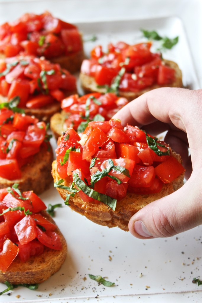 Perfect Bruschetta - Simple, fresh, and seriously amazing. This is the best bruschetta I've ever had!