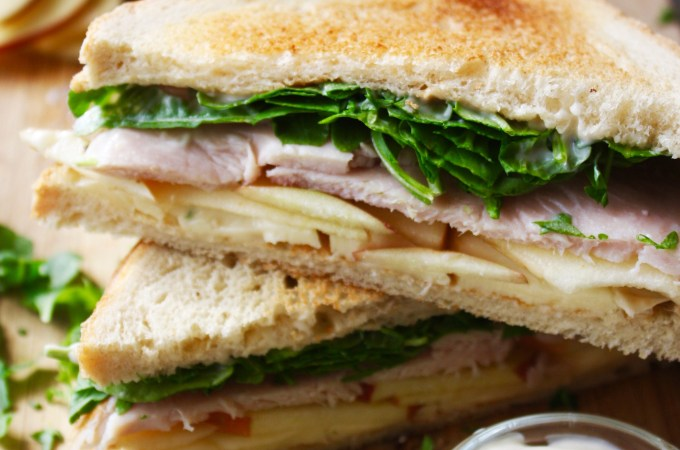 Turkey, Apple, and Brie Sandwich with Apple Cider Mayo