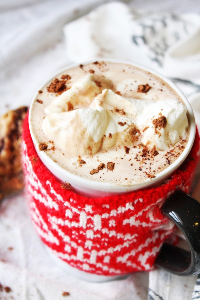 Single Serving Peanut Butter Hot Chocolate - Ready to go in under ten minutes, this delicious hot chocolate is out of this world with the addition of a little peanut butter. Time to curl up by the fire with a nice hot mug :)! - TheGarlicDiaries.com