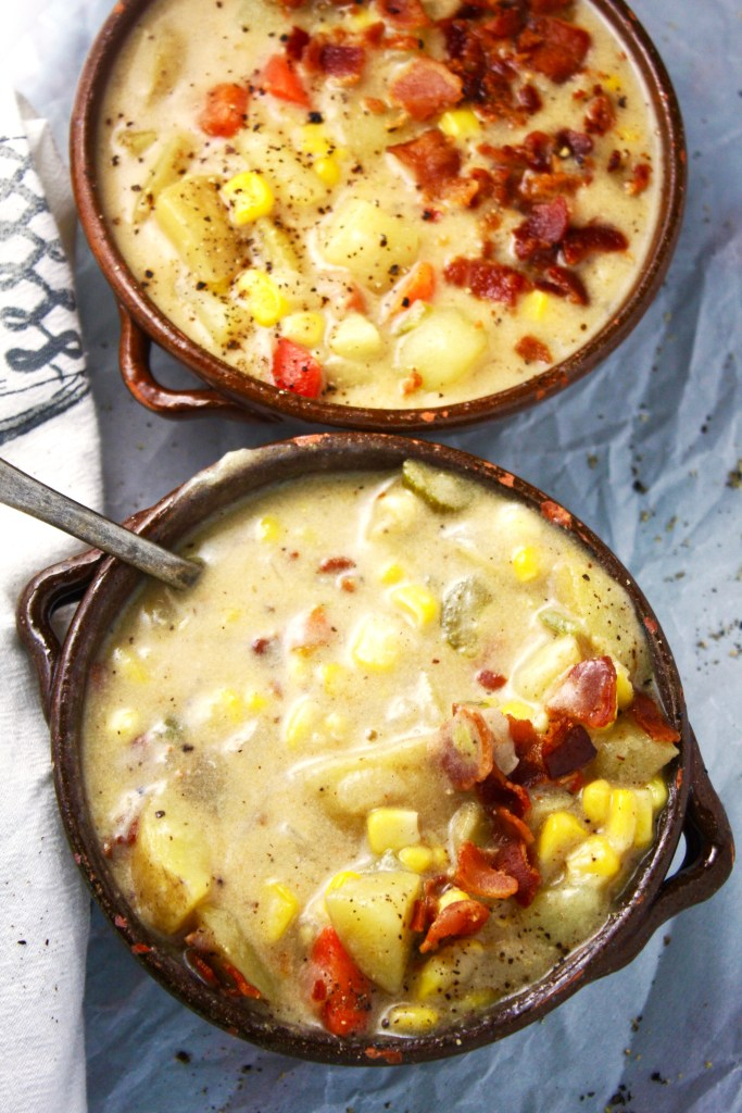 Perfect Corn Chowder - This HAS to be the most comforting bowl of soup I have ever had. Perfect balance of flavors, perfect texture, perfect everything! So yummy.