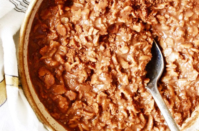 Reese's Cup Oatmeal [21 Day Fix]
