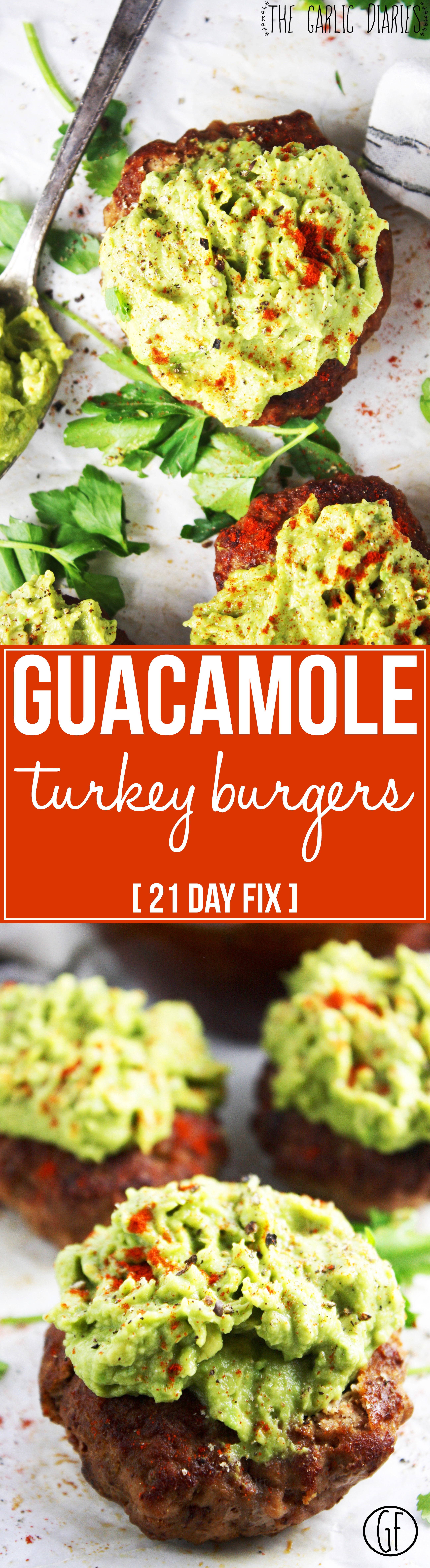 guacamole turkey burgers 21 day fix