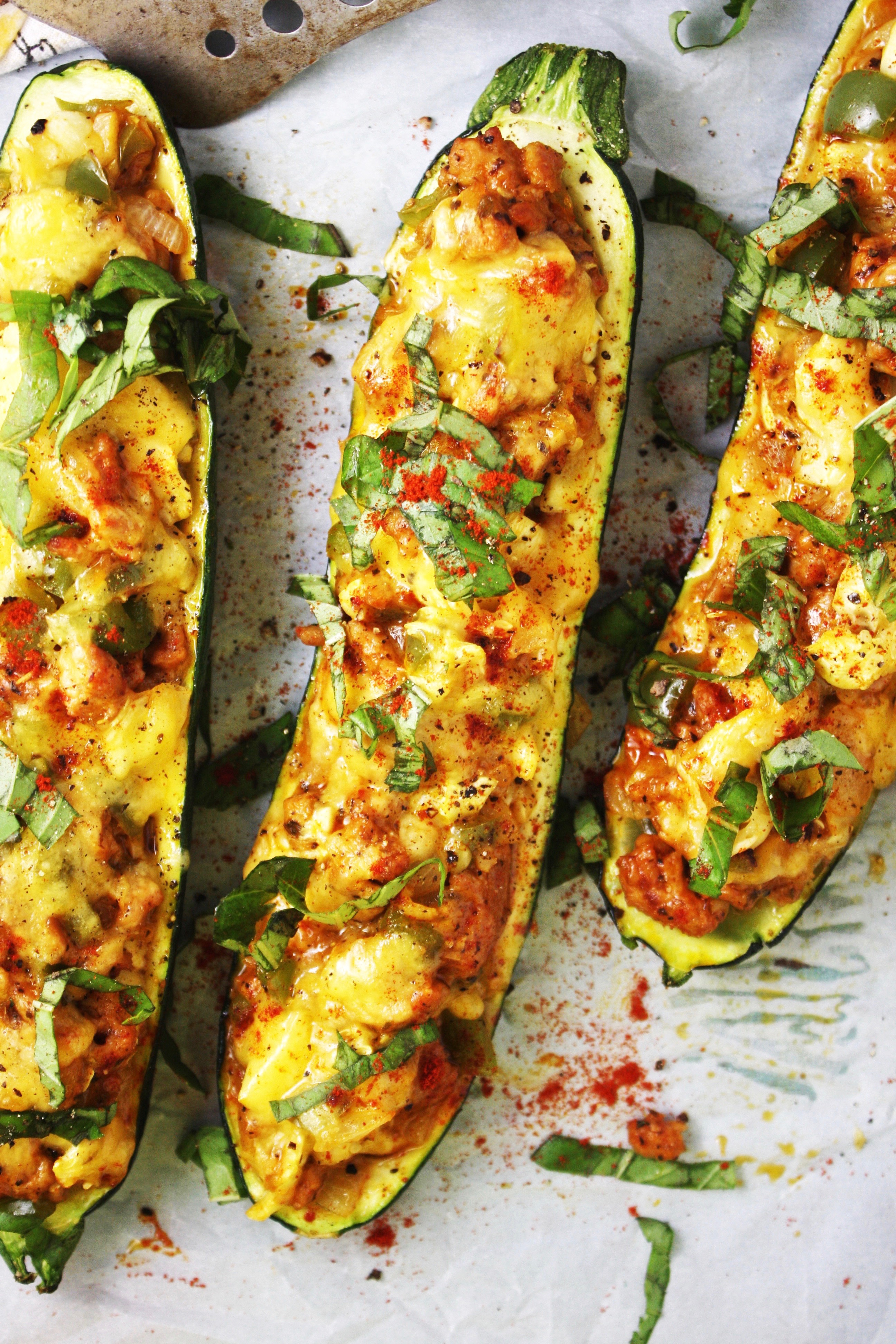 how to make stuffed zucchini with sausage