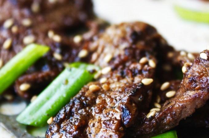Easy Korean Flank Steak