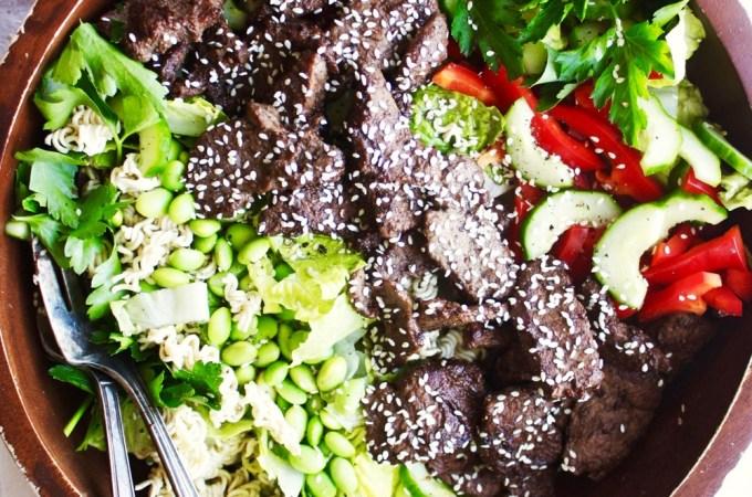 Korean Steak Salad
