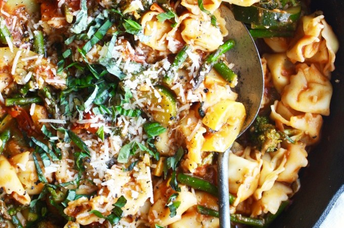 25 Minute Tortellini and Veggie Saute