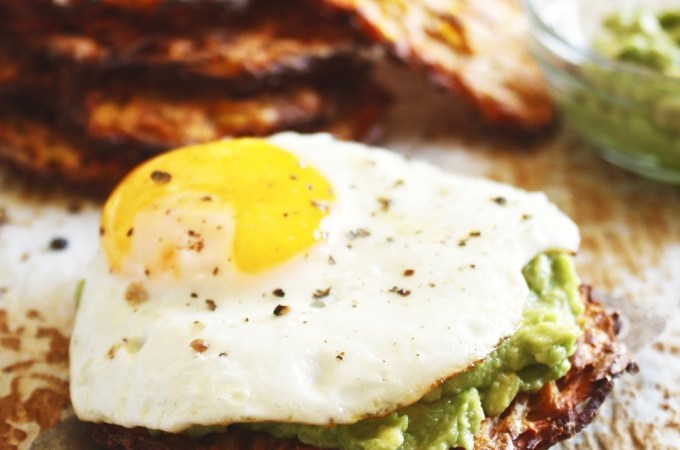 "Avocado ""Toast"" with a Sunny Side Up Egg"