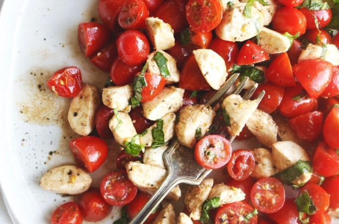 Super Simple Tomato Mozzarella Salad